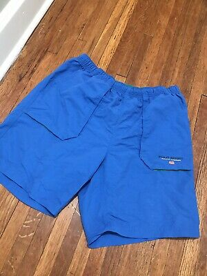 Vintage Polo Sport Ralph Lauren Large Swim Trunks Blue 90's Spell-Out Logo