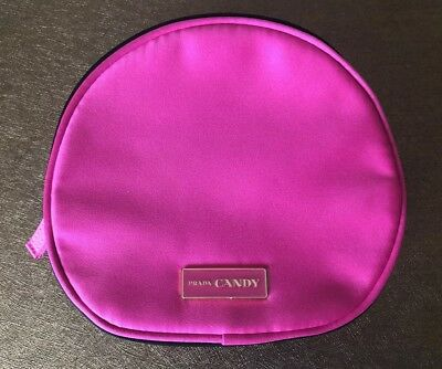 58edff1ea566 PRADA CANDY HOT PINK Makeup Pouch / Cosmetics Bag Patent Faux ...