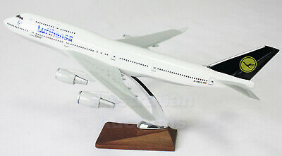 LUFTHANSA AIR B747-400 47cm  LARGE  PLANE MODEL AIRPLANE  SOLID RESIN