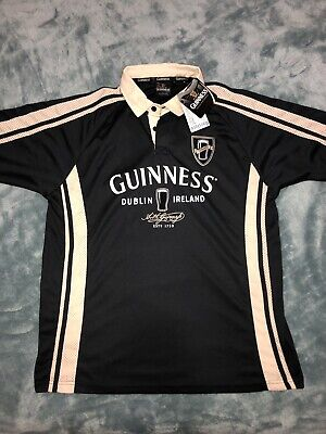 United New Guinness Brewing Dublin Performance Irish Ireland Rugby Polo Jersey Large Without Return Activewear Clothing, Shoes & Accessories