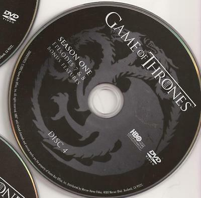 Game of Thrones HBO (DVD) First Season 1 Disc 4 Replacement Disc U.S. Issue!