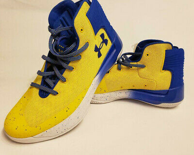 b7dddf5f2bf Under Armour Curry 3ZERO Taxi Yellow Team Royal White 1298308-700 Men s  11.5 NEW