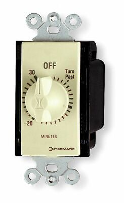 INTERMATIC FD415M Timer,Spring Wound,15 Min,DPST,Ivory
