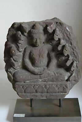 Good Stone Indo Greek Figure Of A Seated Buddha 4/5Th Century Ad