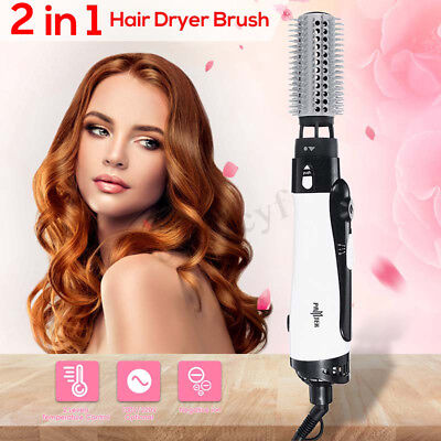 2 In 1  Hair Dryer with Volumizer Brush Straightening Curling Iron Air Comb New