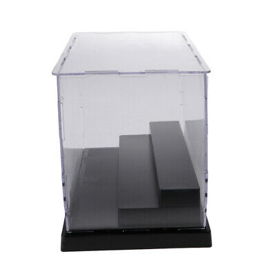 MagiDeal Model Display Clear Case Acrylic 3 Step for Action Figure Dolls Box