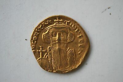 Ancient Byzantine Gold Coin Constans 11 Solidus 641 - 668 A.d.