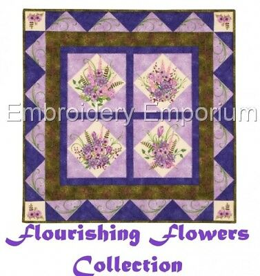 Flourishing Flowers Collection - Machine Embroidery Designs On Cd Or Usb