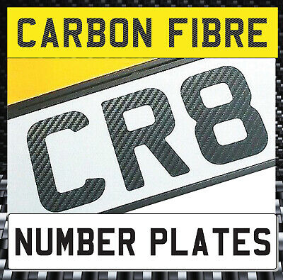 Stick On Carbon Fibre Number Plate Front Sports Bonnet Show Plate