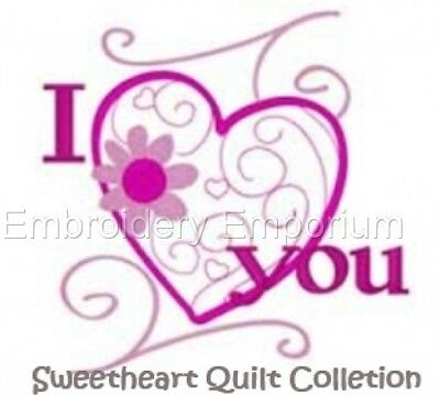 Sweetheart Quilt Collection - Machine Embroidery Designs On Cd Or Usb