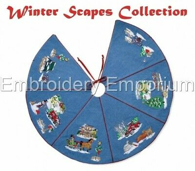 Winter Scapes Collection - Machine Embroidery Designs On Cd Or Usb