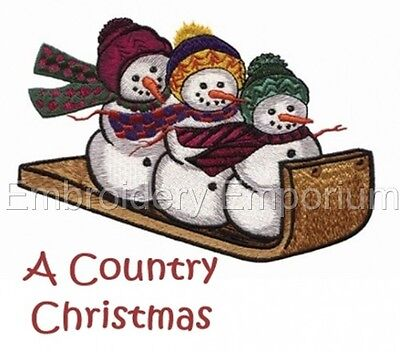 A Country Christmas Collection - Machine Embroidery Designs On Cd Or Usb