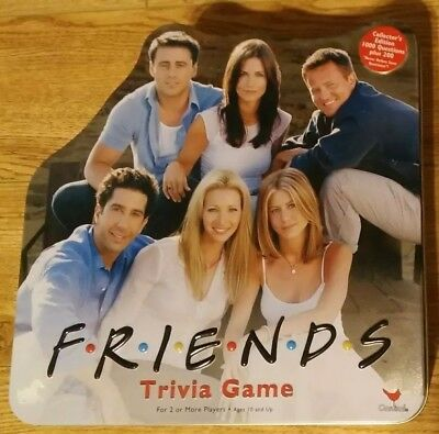Friends TV Show Trivia Collector's Edition Tin Cardinal Game Complete