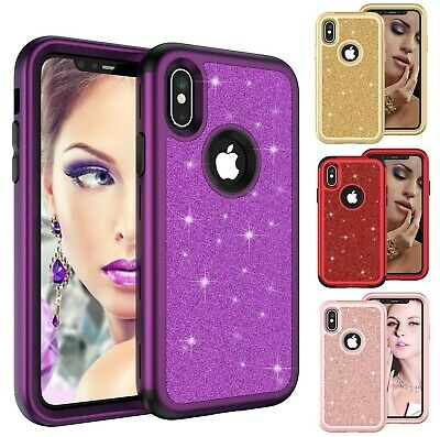 Bling Glitter Shockproof Sparkling Case Covers For iPhone Xs Max XR X 7 8 Plus