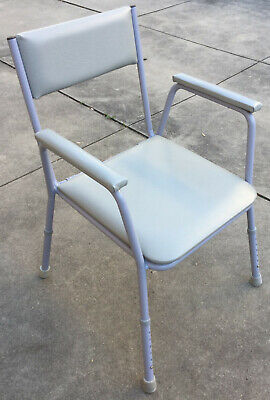 Sturdy Over Toilet Commode Chair Height Adjustable Grey