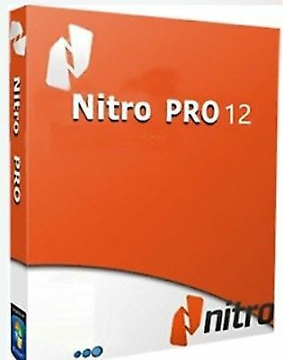 Nitro PDF Pro 12 Official Genuine License Lifetime Instant Delivery 1PC