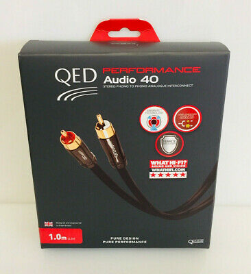 QED Performance Audio 40 stereo phono to phono Interconnect. 1m. Free Delivery.