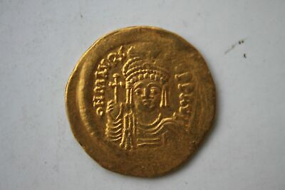 Ancient Byzantine Gold Coin Maurice Tiberius Solidus 582 - 602 A.d.