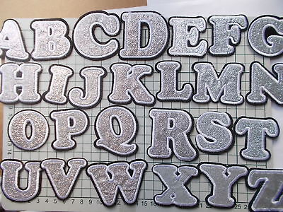 A-Z Alphabet Letter or Number Iron / Sew On Embroidered Patch Applique Motif
