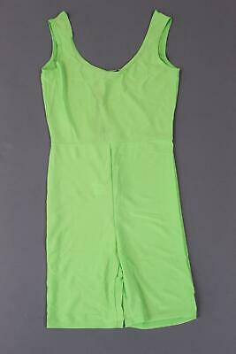 15e16b04d1d0 boohoo Women's Bethany High Shine Cropped Unitard SV3 Green Size US:4 NWT