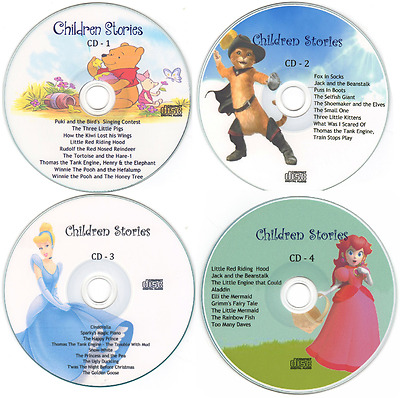 Childrens Bedtime Stories - 4 CD Set Free P&P Printed Cover Artwork