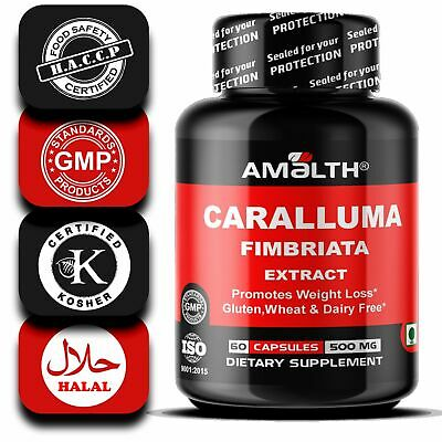 Caralluma Fimbriata Extract 500 mg 5 Bottles PROMOTES FAST WEIGHT LOSS