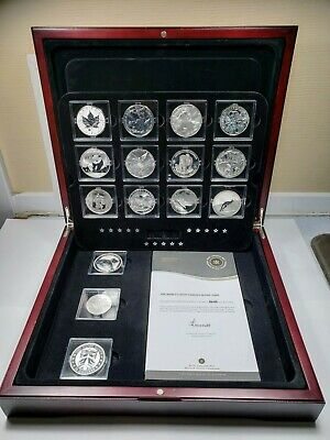 2012 RCM The Fabulous 15 World Silver Set In Wooden Case