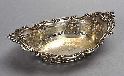 Old Gorham Sterling Silver Master Nut Dish + 6 Individual Dishes Set 8.52 ozt