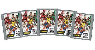 2018-19 Panini NBA Basketball Stickers, 5 Packs of 5 for 25 stickers