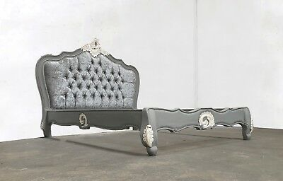 French Style Double Parisian Bed Grey Shabby Chic Brand New