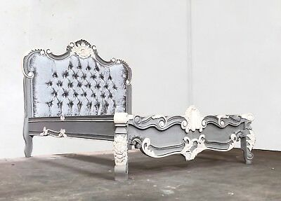 Rococo Superking Dika Bed Grey Shabby Chic Distressed