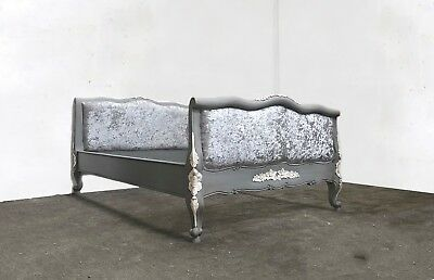 French Juliette Bed Double Grey Shabby Chic Brand New