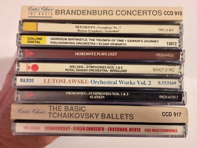 Lot of 11 Classical CD's (Very Good-Like New)  Beethoven, Tchaikovsly + More
