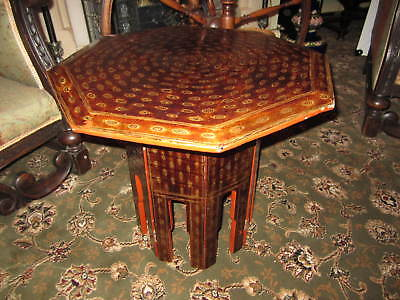 An Oriental lacquered table