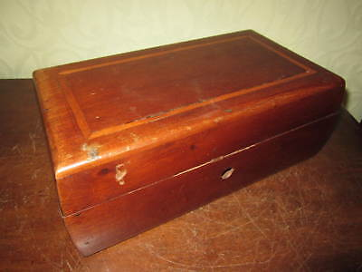 A Victorian or Edwardian inlaid wooden box