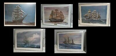 Kipp Soldwedel Signed Framed Ship Lore Series 5 Lithograph Prints LOT 28x21
