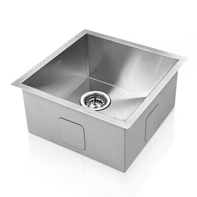 Cefito Square Stainless Steel Sink Laundry Kitchen 440x440mm 1mm Thick