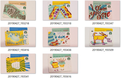 with diamond JUST RELEASED 2019 You Choose Starbucks Gift Card series 6166  -USA
