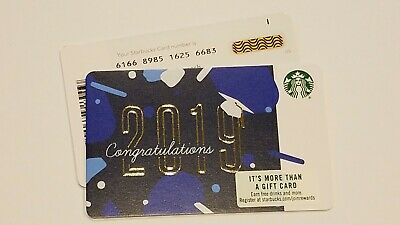 w/line bar Just Released 2019 Starbucks CONGRATULATIONS  #6166 Gift Card - USA