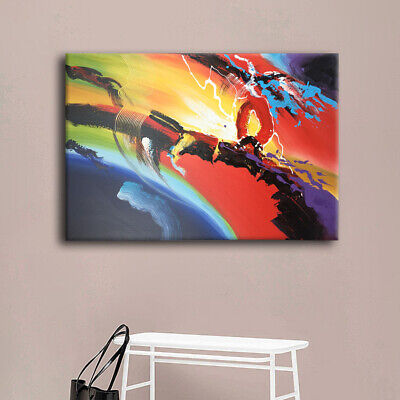 Abstract Ripple Canvas Oil Painting Hand Painted Wall Art Picture Decor Framed