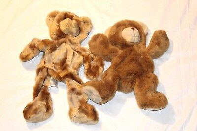 Collectable Build A Bear Workshop Unstuffed Butterscotch Bear and Happy Cub NWT