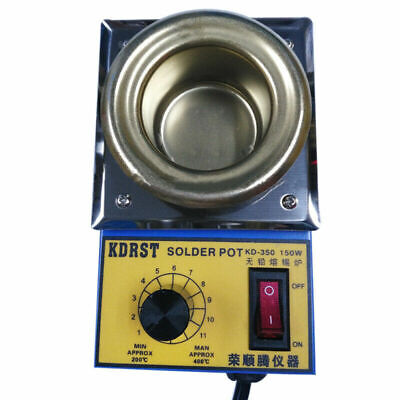 50mm Solder Pot Soldering Desoldering Bath Titanium Melting Plate Adjustable new