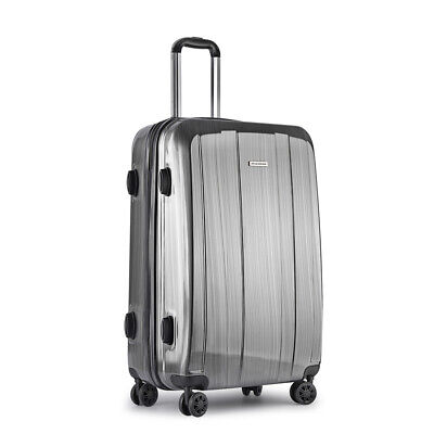 "28"" Luggage Suitcase Trolley Set TSA Lock Travel Carry On Bag Hard Case Grey@TOP"