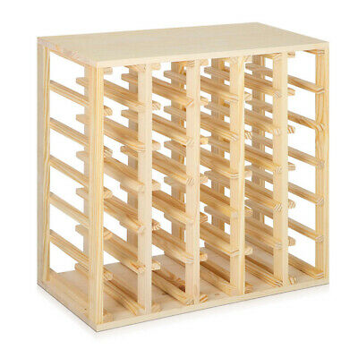 30 Bottle Timber Wine Rack Wooden Storage Cellar Vintry Organiser Stand @TOP