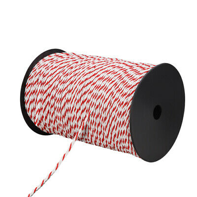 500m Roll Electric Fence Energiser Stainless Steel Poly Rope Insulator @TOP