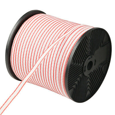 Poly Tape 400m Roll Electric Fence Energiser Stainless Steel Insulator @TOP