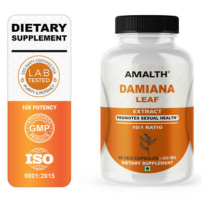 Damiana Leaf Boosts 10X Sexual Performance Extract 400mg 60 Capsules