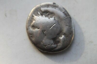 ANCIENT GREEK ITALY SILVER STATER COIN 4th CENTURY BC