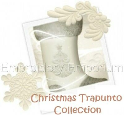 Trapunto Christmas Collection - Machine Embroidery Designs On Cd Or Usb