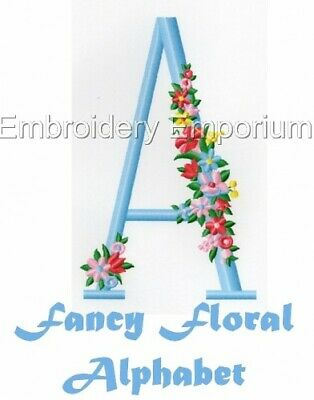 Fancy Floral Alphabet Collection - Machine Embroidery Designs On Cd Or Usb